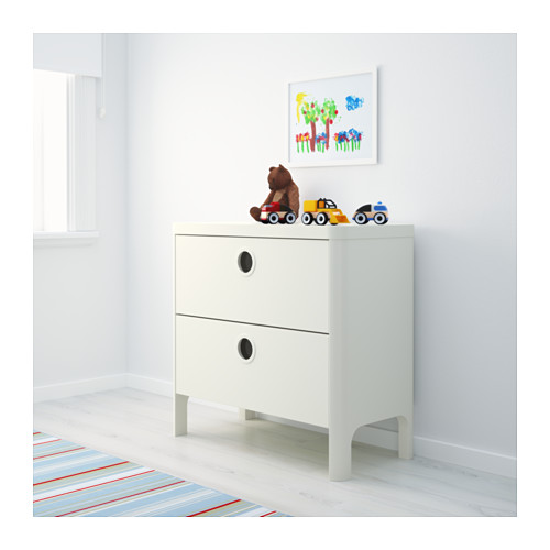 BUSUNGE - chest of 2 drawers, white | IKEA Hong Kong and Macau - PE613243_S4