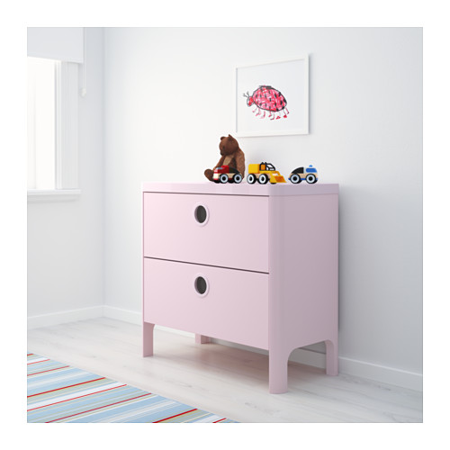 BUSUNGE - chest of 2 drawers, light pink | IKEA Hong Kong and Macau - PE613246_S4