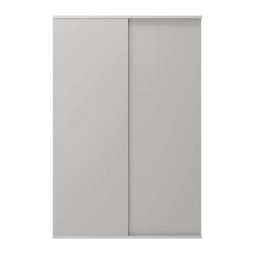 SKATVAL - sliding door with rail, light grey | IKEA Hong Kong and Macau - PE666763_S4