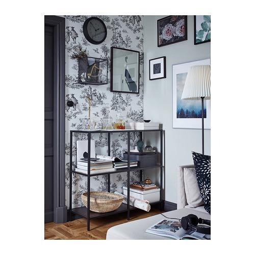 VITTSJÖ - 層架組合, 棕黑色/玻璃 | IKEA 香港及澳門 - PH153107_S4
