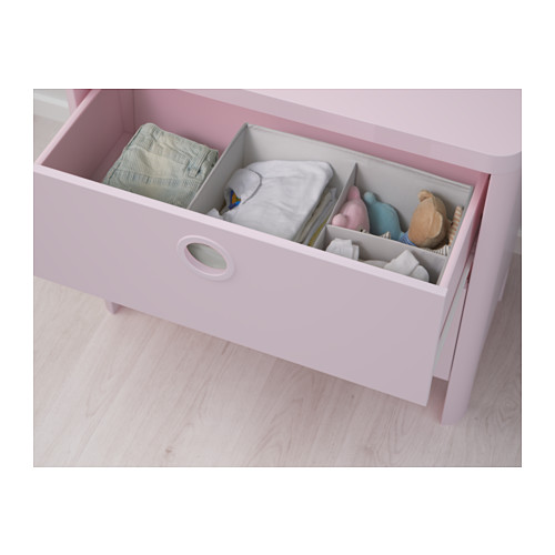 BUSUNGE - chest of 2 drawers, light pink | IKEA Hong Kong and Macau - PE613278_S4