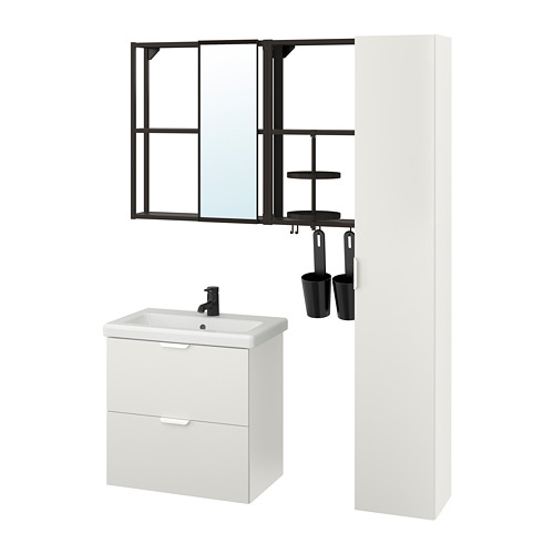 TVÄLLEN/ENHET - bathroom furniture, set of 18, white/anthracite Saljen tap   IKEA Hong Kong and Macau - PE811240_S4