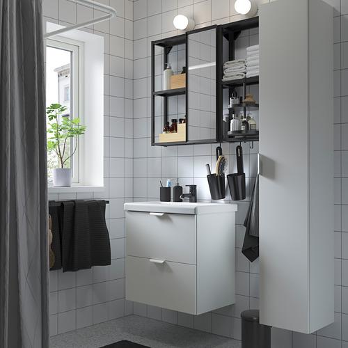 TVÄLLEN/ENHET - bathroom furniture, set of 18, white/anthracite Saljen tap   IKEA Hong Kong and Macau - PE811242_S4