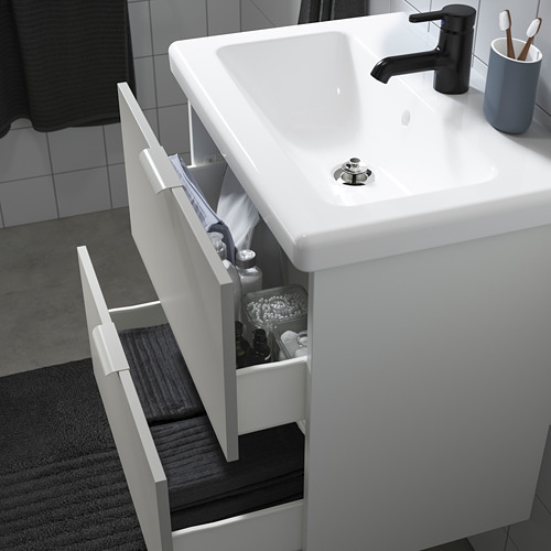 TVÄLLEN/ENHET - bathroom furniture, set of 18, white/anthracite Saljen tap   IKEA Hong Kong and Macau - PE811241_S4