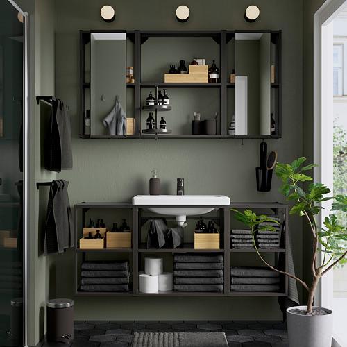 TVÄLLEN/ENHET - 浴室貯物組合 17件裝, anthracite/Saljen tap | IKEA 香港及澳門 - PE811247_S4