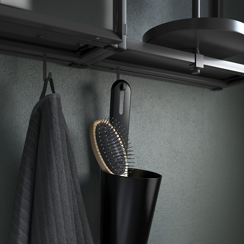 TVÄLLEN/ENHET - 浴室貯物組合 17件裝, anthracite/Saljen tap | IKEA 香港及澳門 - PE811246_S4