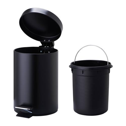 VORGOD - 腳踏式垃圾桶, 黑色 | IKEA 香港及澳門 - PE551279_S4