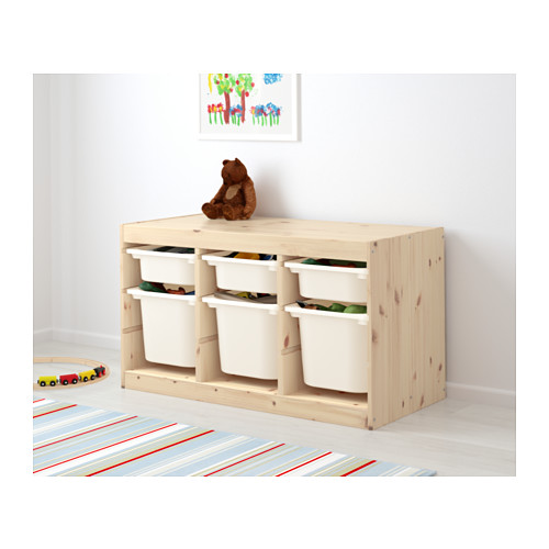 TROFAST - storage combination with boxes, light white stained pine/white   IKEA Hong Kong and Macau - PE613427_S4