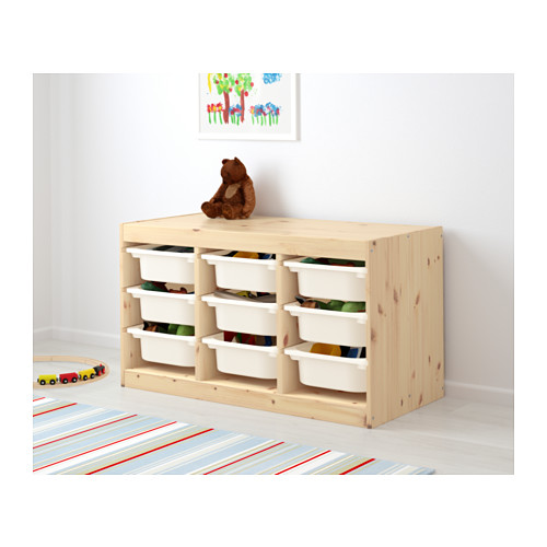 TROFAST - storage combination with boxes, light white stained pine/white | IKEA Hong Kong and Macau - PE613428_S4