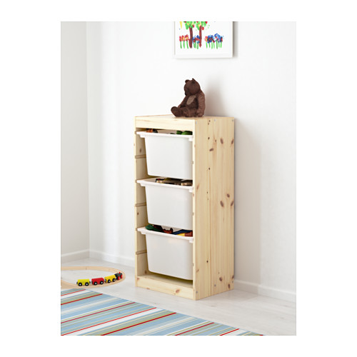 TROFAST - storage combination with boxes, light white stained pine/white | IKEA Hong Kong and Macau - PE613441_S4