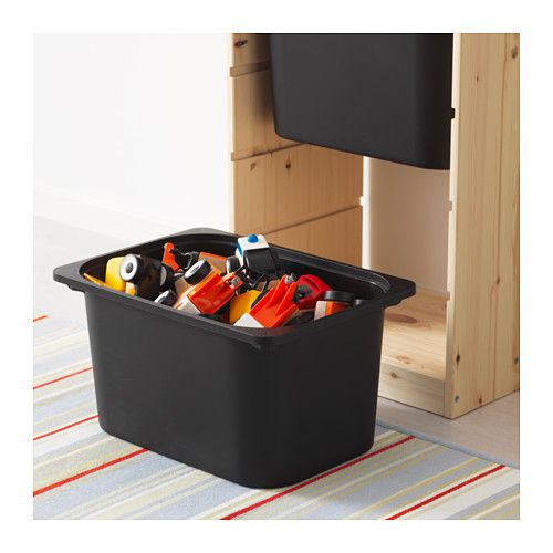 TROFAST - storage combination with boxes, light white stained pine/black | IKEA Hong Kong and Macau - PE613466_S4