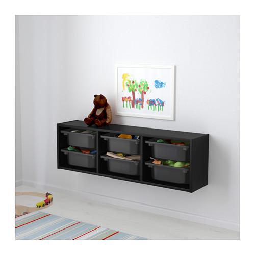 TROFAST - wall storage, black | IKEA Hong Kong and Macau - PE613471_S4
