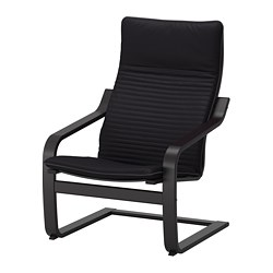 POÄNG - armchair, black-brown/Knisa black | IKEA Hong Kong and Macau - PE666941_S3