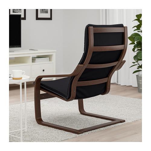 POÄNG - armchair, brown/Knisa black | IKEA Hong Kong and Macau - PE666955_S4
