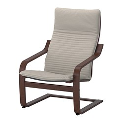 POÄNG - armchair, brown/Knisa light beige | IKEA Hong Kong and Macau - PE666957_S3