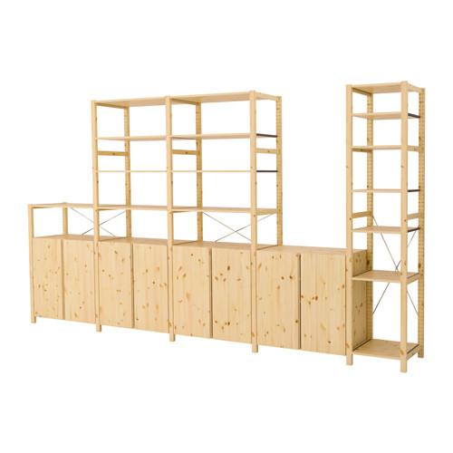 IVAR - 5 sections/shelves/cabinets, 389x50x226 cm, pine | IKEA Hong Kong and Macau - PE413458_S4
