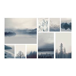 GRÖNBY - picture, set of 9, blue landscape | IKEA Hong Kong and Macau - PE716332_S3