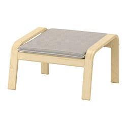 POÄNG - footstool, birch veneer/Knisa light beige | IKEA Hong Kong and Macau - PE667070_S3