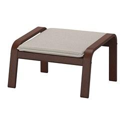 POÄNG - 腳凳, 褐色/Knisa 淺米黃色   IKEA 香港及澳門 - PE667092_S3