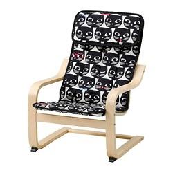 POÄNG - children's armchair, birch veneer/Gisslarp cat pattern | IKEA 香港及澳門 - PE811450_S3