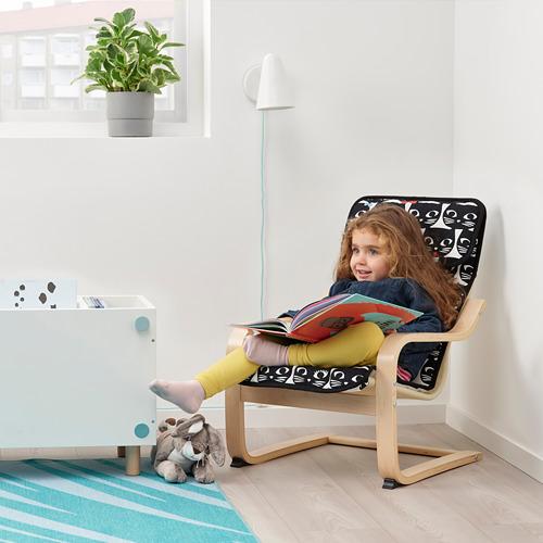 POÄNG - 兒童扶手椅, 樺木飾面/Gisslarp 貓   IKEA 香港及澳門 - PE811449_S4