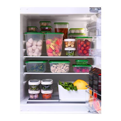 PRUTA - 食物盒,17件套裝, 透明/綠色 | IKEA 香港及澳門 - PE316182_S4
