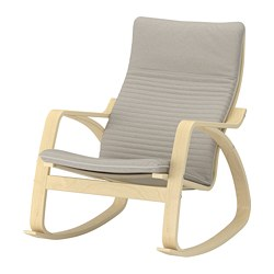 POÄNG - rocking-chair, birch veneer/Knisa light beige | IKEA Hong Kong and Macau - PE667212_S3