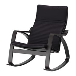 POÄNG - 搖椅, 棕黑色/Knisa 黑色 | IKEA 香港及澳門 - PE667280_S3