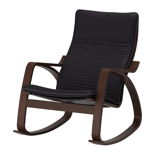 POÄNG - rocking-chair, brown/Knisa black | IKEA Hong Kong and Macau - PE667310_S4