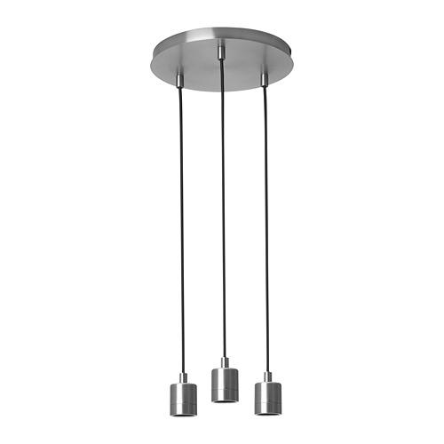 SKAFTET - 三頭電線套裝連天花板吸頂裝置, 圓形 鍍鎳 | IKEA 香港及澳門 - PE811553_S4