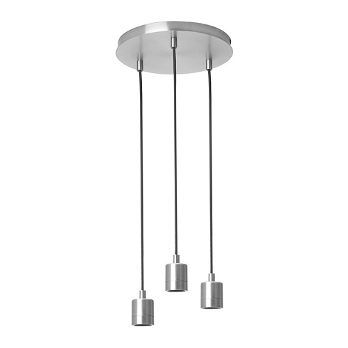 SKAFTET - 三頭電線套裝連天花板吸頂裝置, 圓形 鍍鎳 | IKEA 香港及澳門 - PE811552_S4