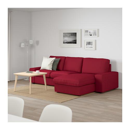 KIVIK - 3-seat sofa, with chaise longue/Orrsta red | IKEA Hong Kong and Macau - PE667374_S4