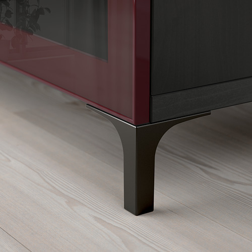 BESTÅ - TV bench, black-brown Selsviken/Nannarp/high-gloss dark red-brown | IKEA Hong Kong and Macau - PE755917_S4