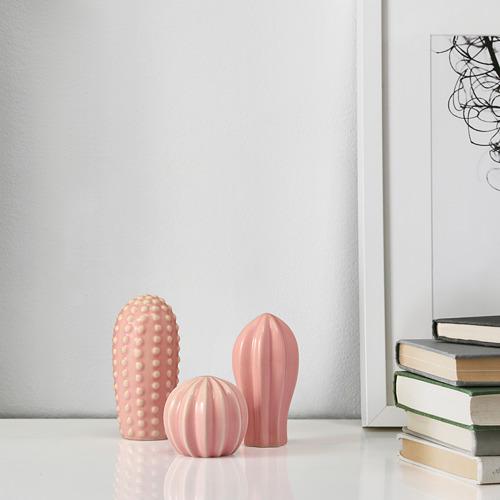 SJÄLSLIGT - 裝飾品,3件套裝, 迷你 粉紅色   IKEA 香港及澳門 - PE811605_S4