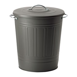 KNODD - bin with lid, grey | IKEA Hong Kong and Macau - PE552113_S3