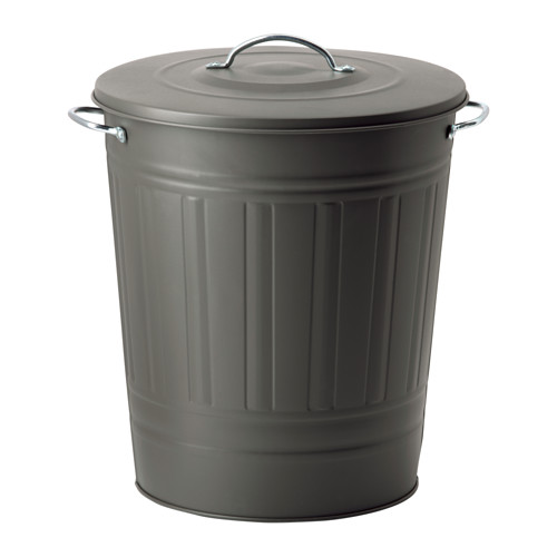 KNODD - bin with lid, grey | IKEA Hong Kong and Macau - PE552113_S4