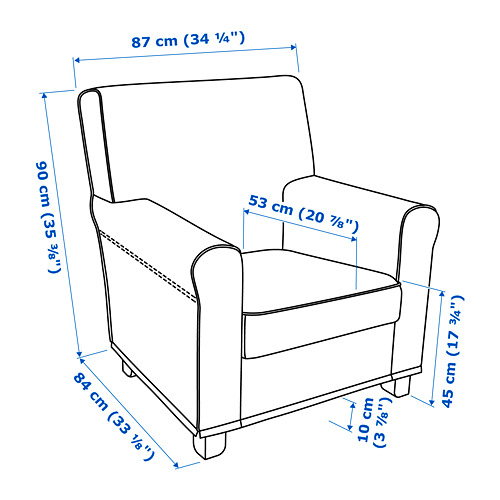 GRÖNLID 扶手椅