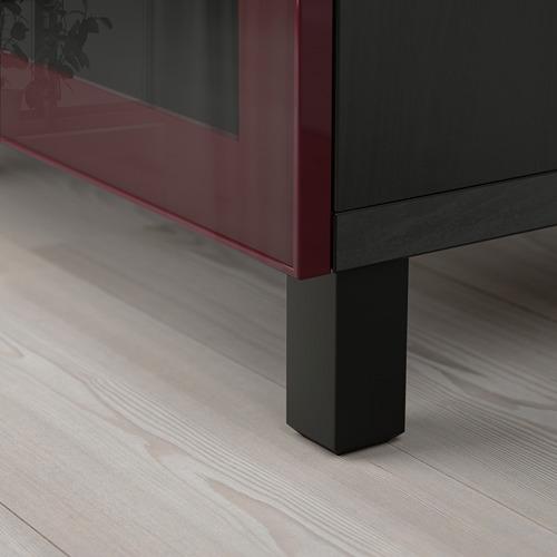 BESTÅ - storage combination with drawers, black-brown Selsviken/Stubbarp/dark red-brown clear glass | IKEA Hong Kong and Macau - PE755931_S4
