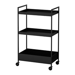 NISSAFORS - trolley, black | IKEA Hong Kong and Macau - PE716744_S3