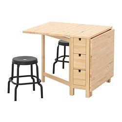 NORDEN/RÅSKOG - table and 2 stools, birch/black | IKEA Hong Kong and Macau - PE716746_S3
