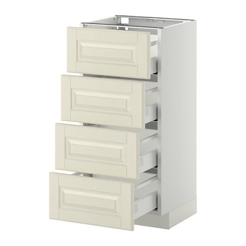 METOD - base cab 4 frnts/4 drawers, white Maximera/Bodbyn off-white | IKEA Hong Kong and Macau - PE411282_S4