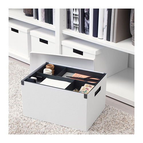 TJENA - 連蓋貯物盒, 白色 | IKEA 香港及澳門 - PE667561_S4