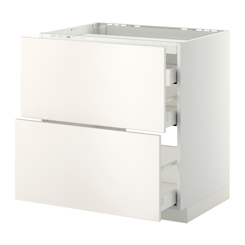 METOD 爐具地櫃連2面板/3抽屜