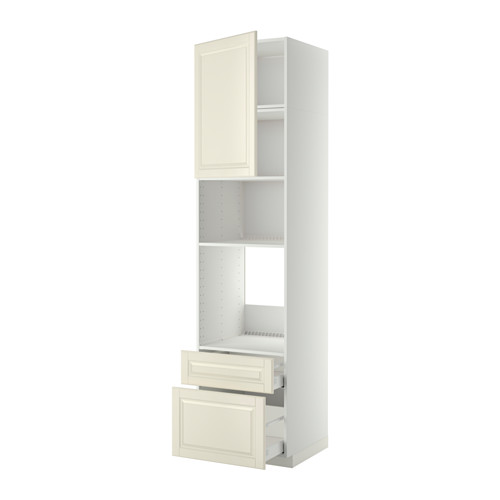 METOD/MAXIMERA - high cab f oven/micro w dr/2 drwrs, white/Bodbyn off-white   IKEA 香港及澳門 - PE411958_S4