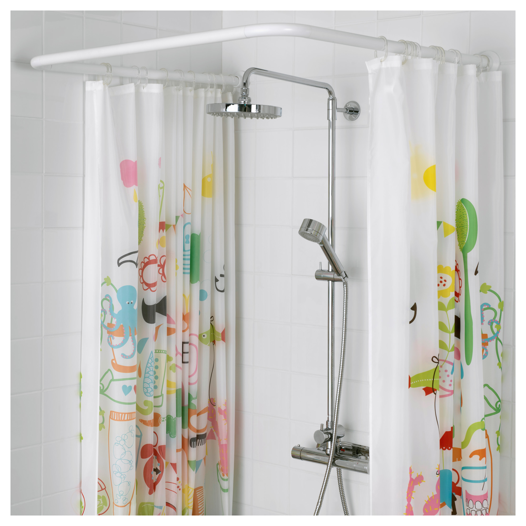 Vikarn Shower Curtain Rod White Ikea Hong Kong