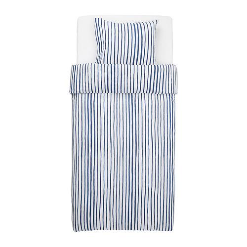 SÅNGLÄRKA - 被套枕袋套裝, 條紋/藍色 白色 | IKEA 香港及澳門 - PE716912_S4