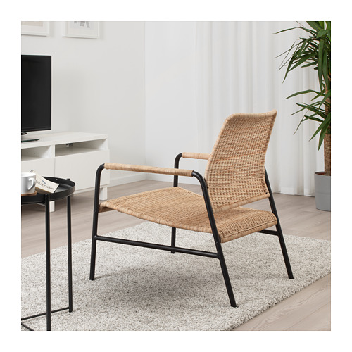 ULRIKSBERG - armchair, rattan/anthracite | IKEA Hong Kong and Macau - PE716930_S4