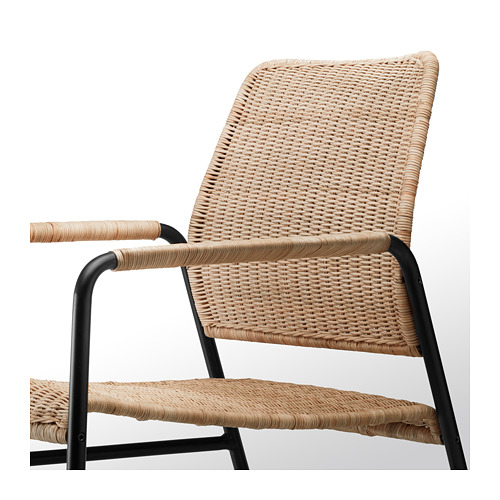 ULRIKSBERG - armchair, rattan/anthracite | IKEA Hong Kong and Macau - PE716935_S4