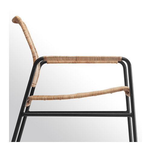ULRIKSBERG - armchair, rattan/anthracite | IKEA Hong Kong and Macau - PE716934_S4