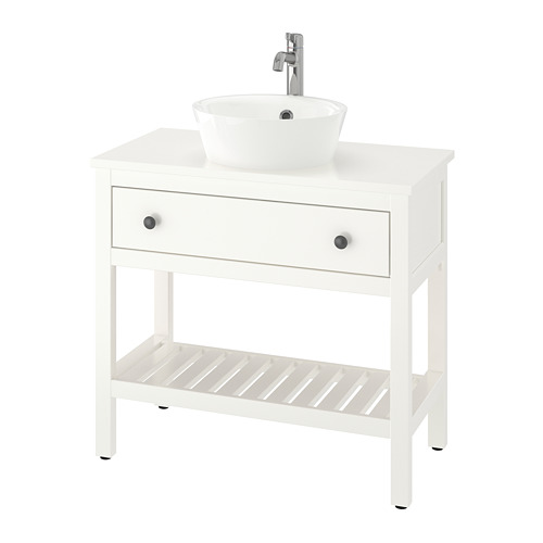 KATTEVIK/HEMNES open wash-stand with 40 wash-basin